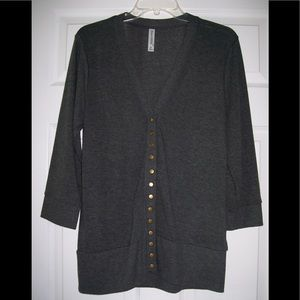 FALL SALE! Charcoal gray snap cardigan. NWOT